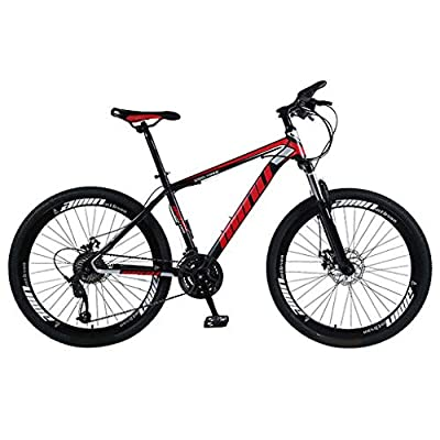 Adult Mountain Bikes,26 Inch Wheels 21 Speed ??Gears Dual Disc Brakes Mountain Bicycle for Women and Men (Red -1)