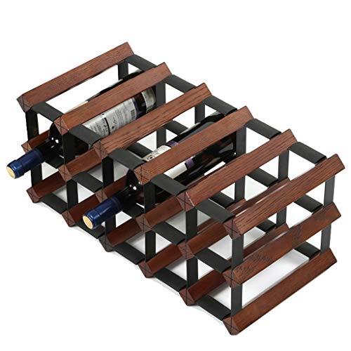 Kiter Wine rack Wine shelf Oak Wine Rack Decoration Wine Bottle Restaurant Solid Wood Cabinet (Size : L)