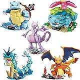 Klycbds 5 Unids / Set Anime Pikachu Pokemon Modelo Blastoise Venusaur Charizard Gyarados Animal DIY ...