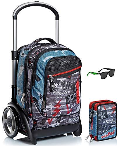 Kit escolar – Trolley Tyre Seven + Estuche Pen Pad + Gafas...