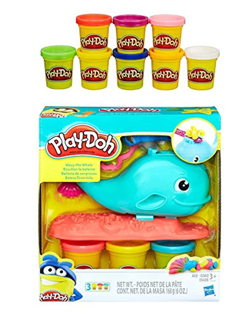 Play-Doh Wavy the Whale + Play-Doh Rainbow Starter Pack Bundle
