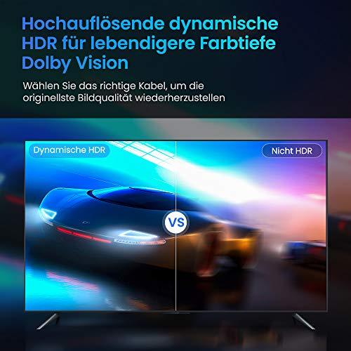 8K HDMI 2.1 Kabel 2M-Snowkids 8K@60HZ&4K@120HZ HDMI 2.1 Ethernet Kabel 7680P mit eARC Dolby Vision 48Gbps Dynamischer HDR HDCP 2.3 kompatible mit PS5, PS4, HDTV, PC - 7