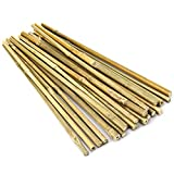 Pllieay Estacas de bambú Gruesas Naturales Estacas de jardín Bastones de bambú para Soporte de...