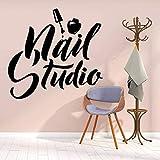 Adesivi Murali 57X59Cm Adesivo In Vinile Con Logo Per Studio Di Bellezza Per Smalto Per Unghie