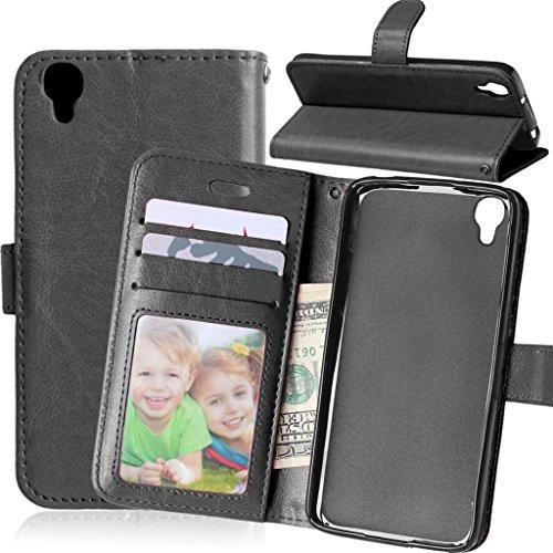FUBAODA for für Alcatel One Touch Idol 3 Tasche Schwarz+Kostenlos Syncwire Ladekabel, Leder Hülle,Flip Leder Slot Brieftasche,für for für Alcatel One Touch Idol 3(4.7 inch)(schwarz)