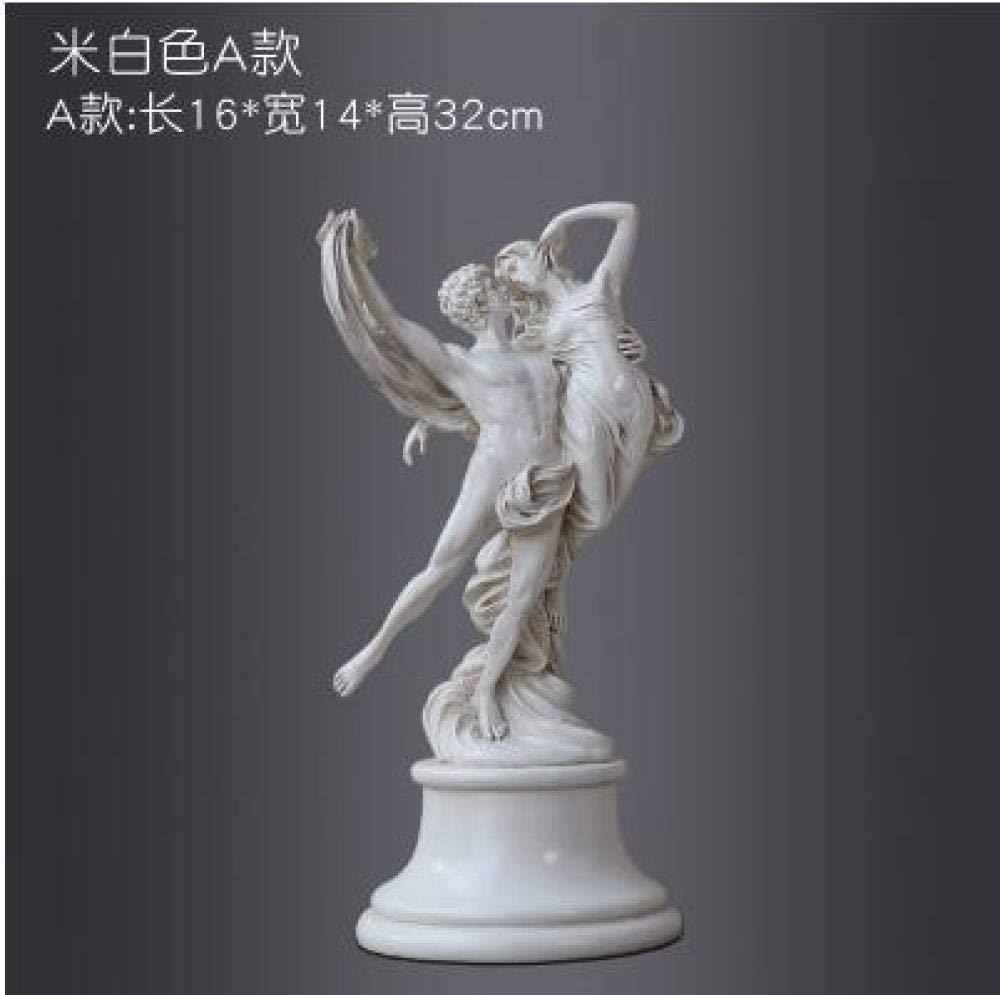 SculpturesQYZ Estatuas para jardín Carácter Escultura Moderna Resina ángel artesanías Estatua Amante Decoraciones para el hogar Boda cumpleaños Regalo-A_China: Amazon.es: Hogar