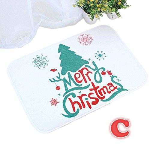 Weihnachtsdeko Rutschfeste Fußmatte mit fröhlichem Weihnachtsmotiv (A-E), 40 x 60 cm