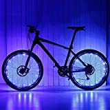 Keyian Bike Wheel Lights for Kids, Cool Bike Accessories for Boys Men Women Girls Toys for Teen Boys 13 and Up Bicycle Lights for Night Riding Gifts for Teen Boys 12-18 Blue