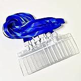 ChenYu 12 pcs Titular De LInsignia, Fundas Para Tarjetas de Identificación, Etiqueta Badge Id Tarjeta y 12 Piezas de Cordón Azul, Adecuado Para Negocios, Oficina y Escuela, 105 x 90 mm
