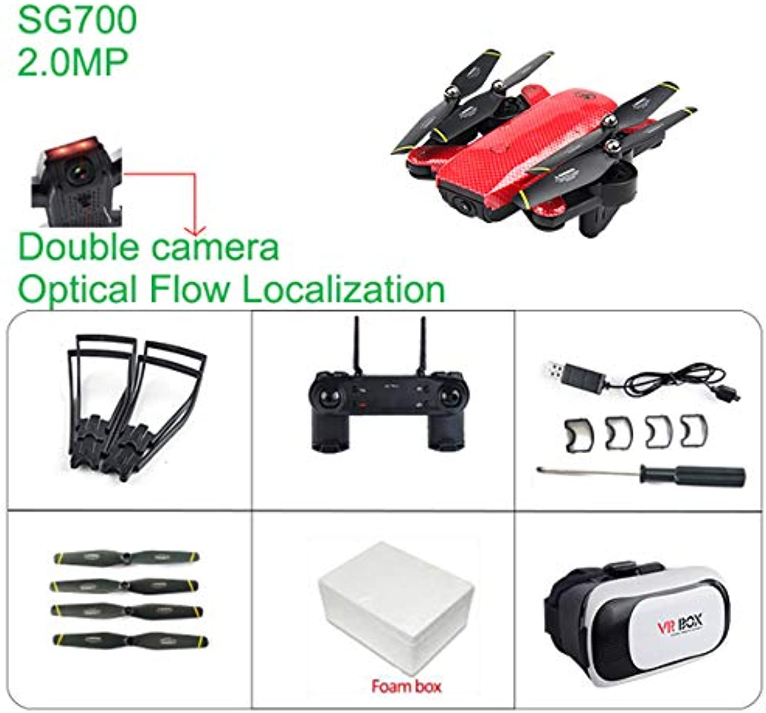Generic VR SG700 RC Quadcopter Drone with Camera HD FPV Drone WiFi Phone Control Live Video Photo RC Toys VS E58 YH19HW Double Cameras F365458