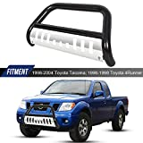 ECOTRIC Bull Bar 3' Tube Brush Push Grille Guard Front Bumper Compatible With 98-04 Tacoma / 96-98 4Runner