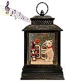 GOOSH Lighted Christmas Snow Globe Lantern,...