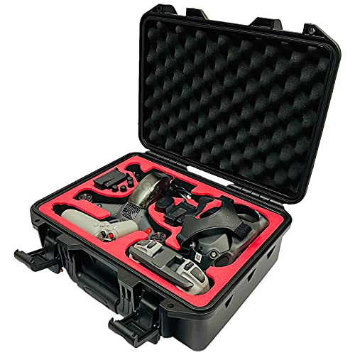 FPVtosky Professional DJI FPV Carrying Case, Safety Waterproof Hard Case for DJI FPV Drone Accessories