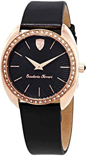 Ferrari Donna Black Dial Ladies Watch 820019, Analog Display