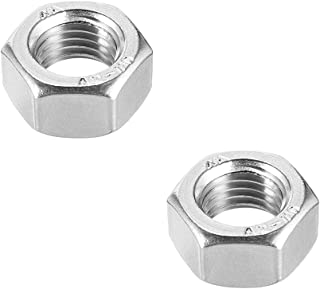 uxcell Hex Nuts, M18x2.5mm Metric Coarse Thread Hexagon Nut, Stainless Steel 304, Pack of 2