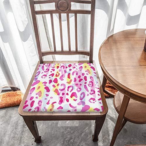 Cojín de asiento para silla, espuma de memoria, impresión de pantera de animales de acuarela, cojines de asiento para oficina, hogar o asiento de coche