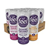 FEEL Sparkling Natural Energy Drink Variety Pack, Zero Sugar, Keto Friendly, 12oz Cans (Pack of 12)