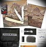 New Rough Rider Scrimshaw White Bone Folding Pocket ProTactical Elite Knife Design Tools Kit Set 1667RT + Free eBook