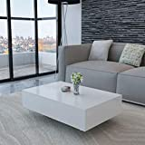 Canditree Modern Rectangular Coffee Table, High Gloss White, Coffee Table for Living Room, Office 33.5' x 21.7' x 12.2'