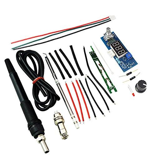 Werse STC-T12 DIY Kits Elektrische Einheit Digital Lötkolben Station Temperaturregler Kits für HAKKO T12 Lötkolben Station DIY Kits mit LED Vibrationsschalter - Blau