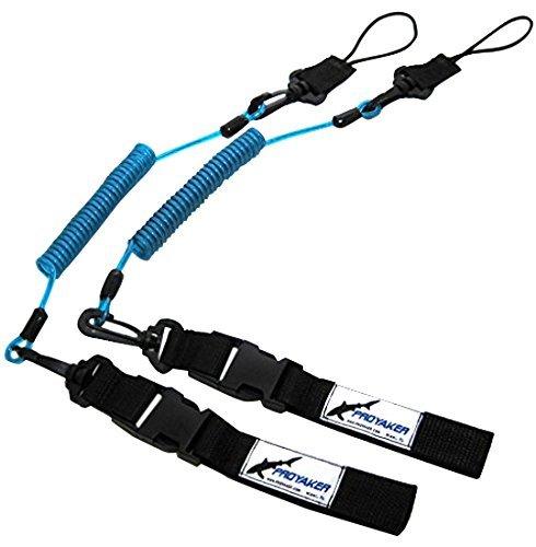 PROYAKER Ocean Tough Kayak Accessories Set of 2 Universal Paddle/Fishing Rod Leash