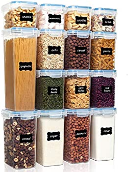 15-Pieces Airtight Food Storage Containers Set (Blue, Pink or Yellow)
