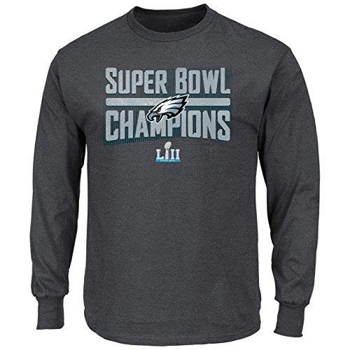 Amazon.com   Philadelphia Eagles 2018 Super Bowl Champions Sudden Impact  Pro Line Mens Charcoal Grey Champions Long Sleeve T-Shirt NFL AUTHENTIC  (XXL) ... afb3ee916