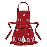 Ragged Rose Betsy Delantal de Navidad con Volantes para niños de 3 a 7 años