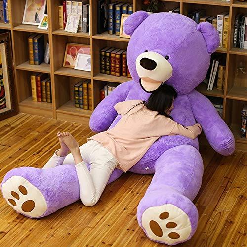 CLINGE Stuffed Animal 100-260cm unstuffed America Giant Teddy Bear Plush Toy Soft Teddy Bear Skin Birthday Valentine's Gifts for Girl Kid's Toy-Light Brown-130cm