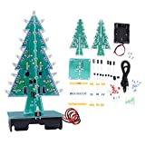 3D Christmas Tree LED Electronic Circuit Kit Assemble Colors LED Stereo Christmas Tree Holiday Decor(3 colores)