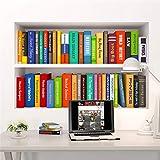 Estantería De Libros Etiqueta De La Pared Extraíble Diy Pvc 3D Decoración Del Hogar Habitación De Los Niños Dormitorio Sala De Estar Estudio Decoraciones Creativas Oferta