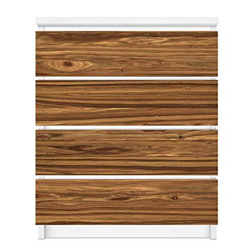 Apalis Vinilo Adhesivo para Muebles IKEA - Malm Dresser 4xDrawers - Nordic Wood Wall, Größe:4 Mal 20cm x 80cm
