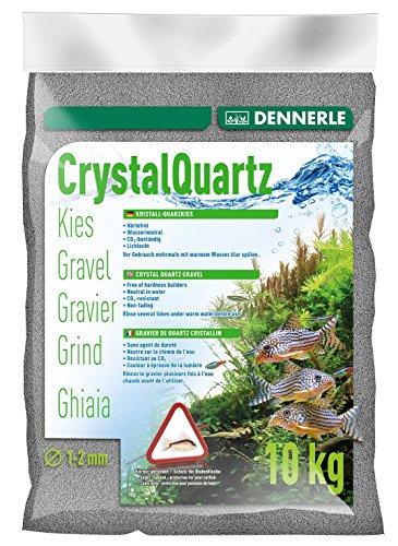 Dennerle Aquarienkies Schiefergrau 10 kg - Bodengrund für Aquarien - Körnung 1-2 mm
