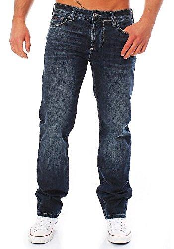 M.O.D Herren Jeans straight, Blau, Gr. 30W / 32L