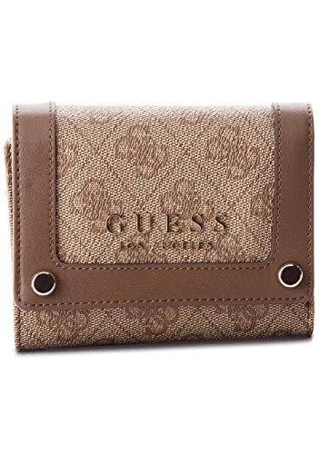 Guess Florence SLG - Bolso de mano para mujer (tamaño único), color marrón