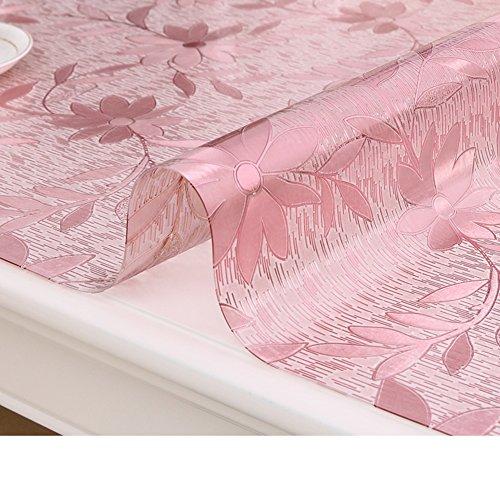 XKQWAN soft glass Pvc table cloth waterproof Burn-proof Plastic tablecloths Dining desk mats Tea table mats Transparent pad Crystal table cloth-E 70x130cm(28x51inch)