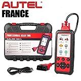 OBD2 Autel MD808 Pro - Valise Diagnostic Auto Pro Multi-Marques - Modèle France Authentique avec Garantie Autel Europe - Lecture/Effacements défauts - Entretiens - Injecteurs - FAP