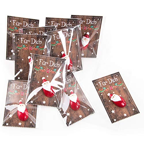 Logbuch-Verlag 10 Nikolaus Weihnachten Geschenk klein Mini give-Away Mitarbeiter Kinder Kollegen Freunde Santa Mitgebsel Nikolausgeschenk