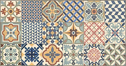 Vilber Toledo DU 01 52X100 Alfombra, Vinilo, Multicolor-01, 52 x 100 x 0.22 cm