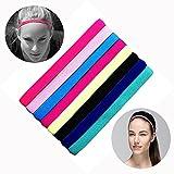 HOCAIES Sport Haarband Yoga Fussball Stirnbänder Bunte Serie Satz von 8 er Diverse