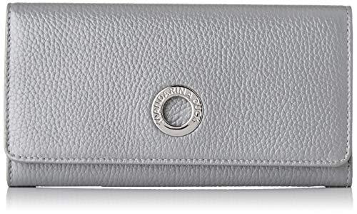 Mandarina Duck Damen Mellow Lux Portafoglio Geldbeutel, Silber (Silver), 2x10x19 Centimeters