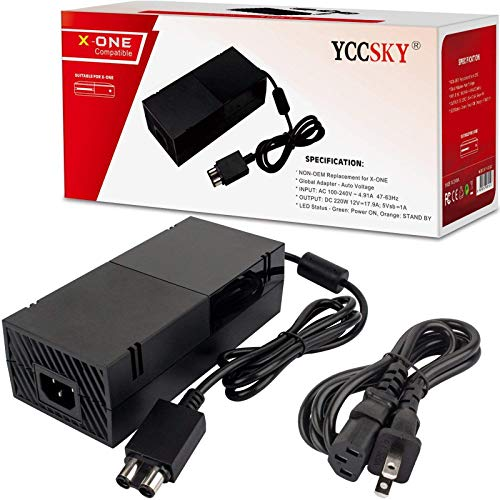 YCCSKY Xbox One Power Supply Brick [Global Version] Xbox Power Supply Brick Cord Low Noise 100V-240V AC Adapter Power Supply Charger Replacement for Xbox One
