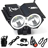 Best Bicycle Lights 5000 Lumens Rechargeables - Nestling Waterproof 800 Lumens XM-L U2 LED Bicycle Review