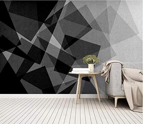 3D vliesbehang foto vlies premium fotobehang modern retro abstract geometrisch woonkamer slaapkamer achtergrond behang zwart-wit-muurschildering 350*245cm #694