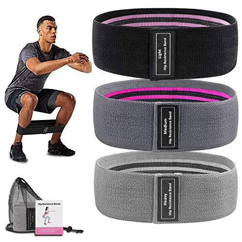 Elastic Workout Bands Long Fabric Resistance Bands Thick Set Loop Equipment Fit Body Home Training Gym Fitness Booty Legs Thighs Arm Butt Yoga Pilates,Hip Exercise Bands for Working Out Men Women
