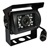 YMPA Rückfahrkamera 4 PIN 4PIN Kamera Farbe Drehbar Nachtsicht IR CCD Metallgehäuse schwarz für Monitor Auto KFZ PKW Wohnmobil Transporter Aufbau RFK-M120-4PIN