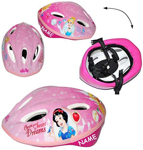 alles-meine.de GmbH Kinderhelm -  Disney Princess / Prinzessin  - Gr. 52 - 56 incl. Name - Verstellbarer Helm - für Kinder Mädchen pink rosa Katze / Fahrradhelm Schutz - Ariell..