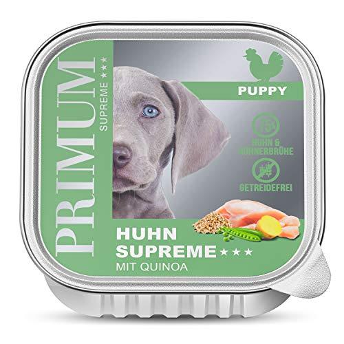 PRIMUM | Puppy Huhn mit Kartoffel | Nassfutter Schalen | 6 x 150 g | Hundefutter | Getreidefrei