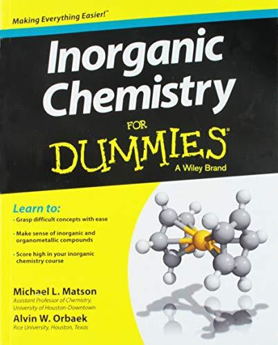 Inorganic Chemistry FD (For Dummies)