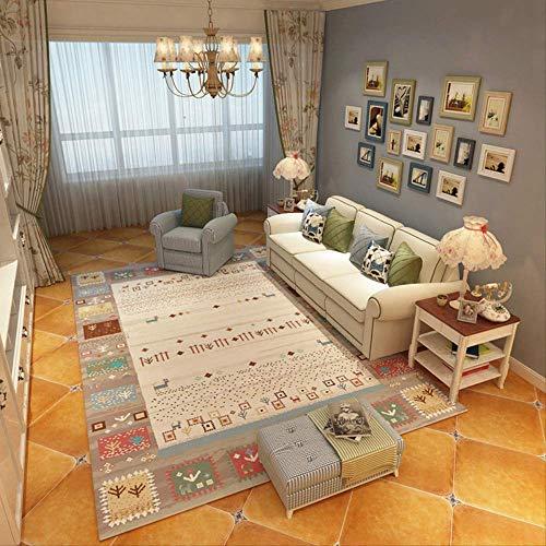 JUNYYANG Manta de área de Soft Mat Cubierta Simple de alfombras Alfombras for el hogar, Sala de Estar Mesa de Deslizamiento, Grueso de impresión, Inicio de alfombras (2 Unidades)